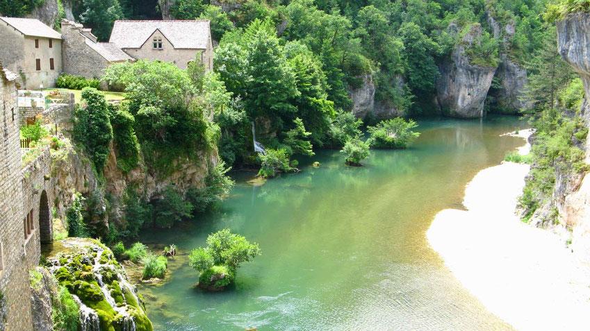 Urlaubsziel Gorges du Tarn, Tarnschlucht, in Frankreich. Camping und wandern.