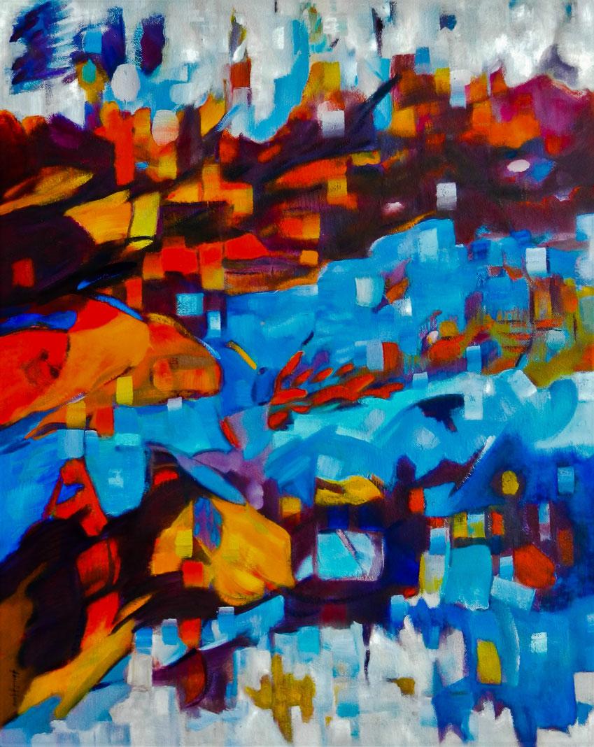 Vrije abstractie  - Olieverf op doek :-)