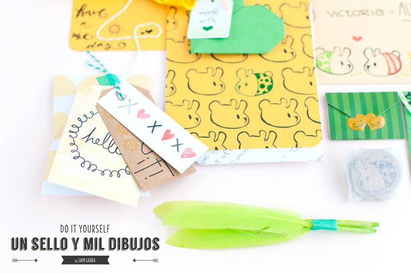 CRAFTERNOON: un sello, mil dibujos by Sami Garra