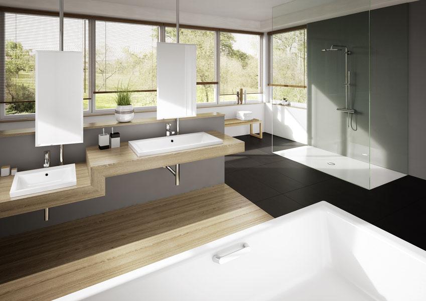 Der Kaldewei Waschtisch Puro besticht durch sein klassisch-puristisches Design und seinen großzügig dimensionierten Innenraum.