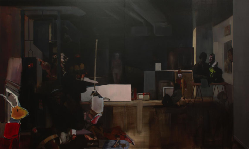 El Gran Estudio. Oil on canvas. 180 x 300 cm. 2012