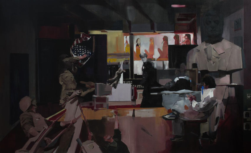 Historia (El Gran Estudio). Oil on linen. 180 x 300 cm. 2015