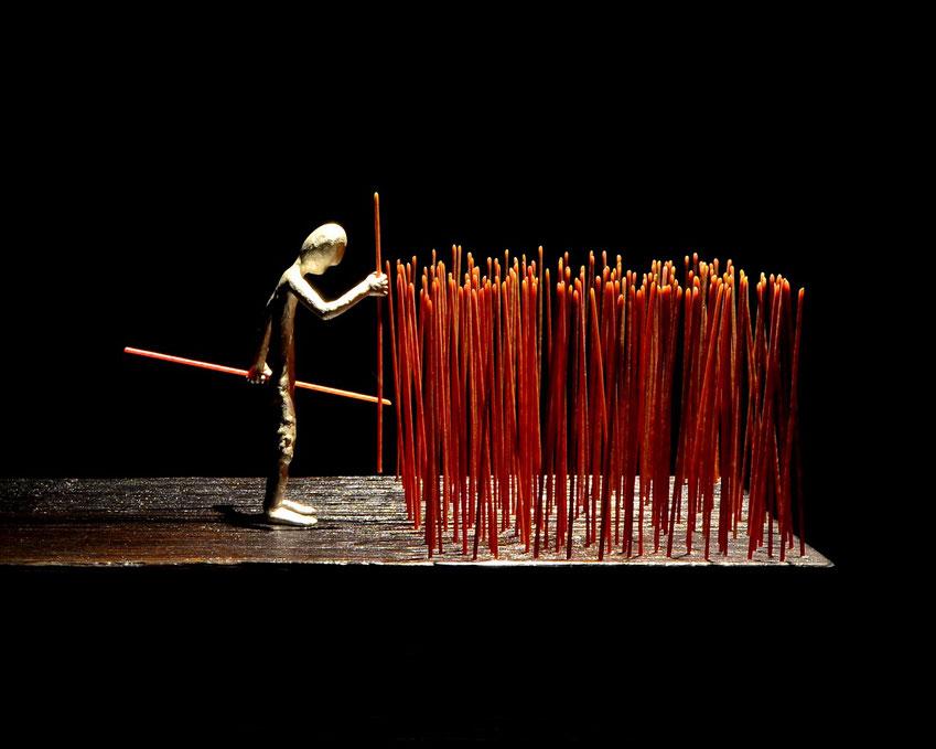 Europe Skulptur aus Silber und Holz Künstler Holger Schulz Småland Schweden