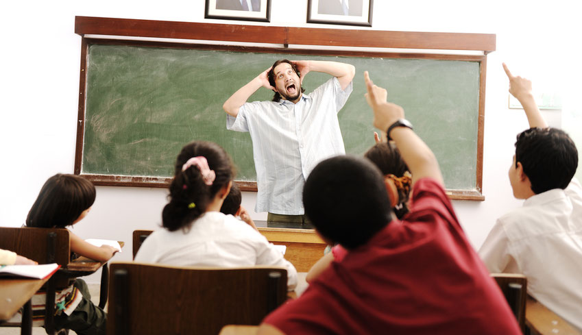 Lehrer Problem: Laute Klassen lassen sich nur bedingt mit Schreien kontrollieren
