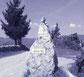 L'entrée du domaine de la gorre matérialisé par un rocher vertical avec panneau signalisation du domaine par le gite de la gorre en location en ardeche