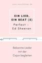 Perfect Ed Sheeran Cajon Noten