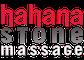 Hahana Hawaiian hot Stone Massage therapy symbol creatively and harmoniously designed.