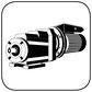 Stirnradgetriebe mit Wechselstrommotor B34 gr Fuss Flansch