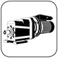 Stirnradgetriebe mit Wechselstrommotor B3 Fuss