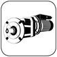 Stirnradgetriebe mit Wechselstrommotor B5 Flansch