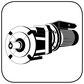 Stirnradgetriebe mit Wechselstrommotor B35 Fuss Flansch