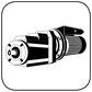 Stirnradgetriebe mit Wechselstrommotor B14 gr Flansch