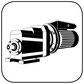 Stirnradgetriebe mit Wechselstrommotor B34 kl Fuss Flansch