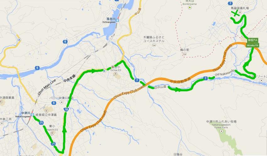 Trajet en bus pour Magome depuis Nakatsugawa