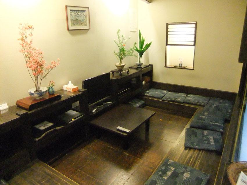 Tokyo kebukuro Kimi Ryokan - le lobby côté salon