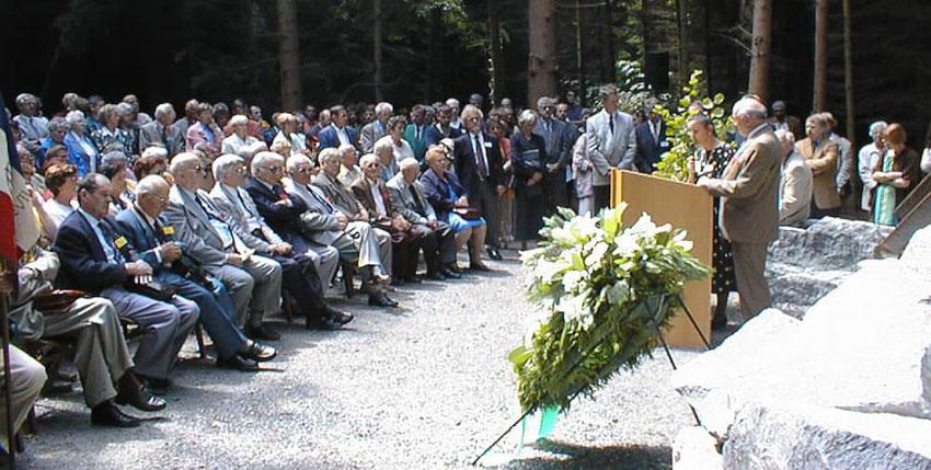 Einweihung der KZ-Gedenkstätte am 25. Juli 1998