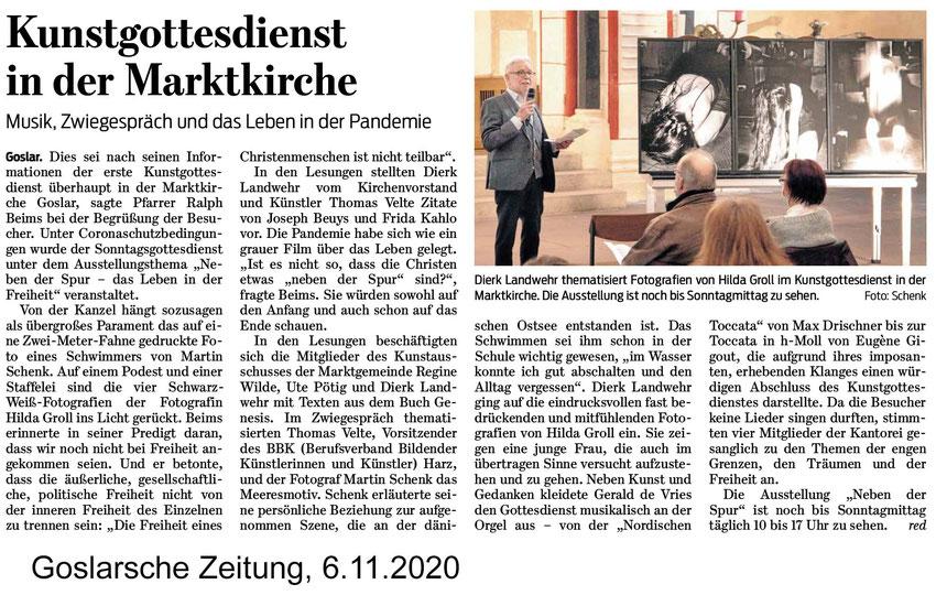 Goslarsche Zeitung, BBK-Harz, Marktkirche, Kunstgottesdienst