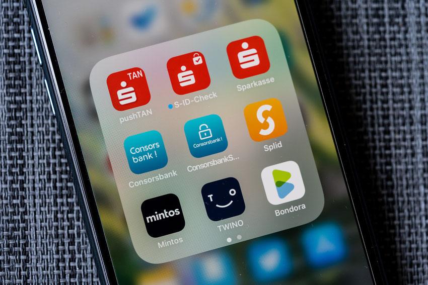 Finanzapps auf dem Handy