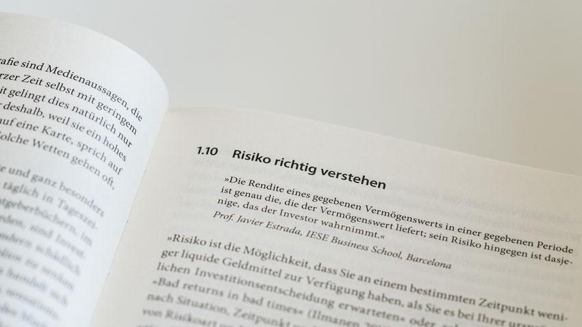 """Buchauszug mit Überschrift """"Risiko richtig verstehen"""""""