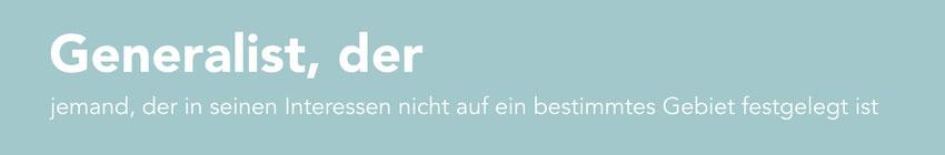 """Logo von """"Der Generalist"""""""