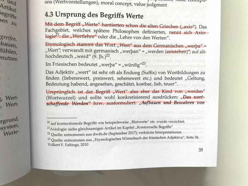 """Auszug aus """"Das große Buch der Werte"""""""