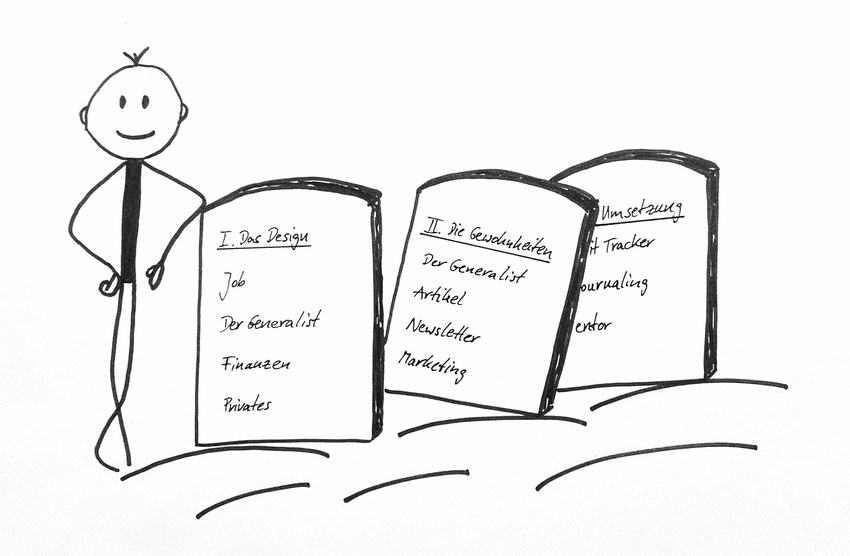 Design your life in 3 Schritten