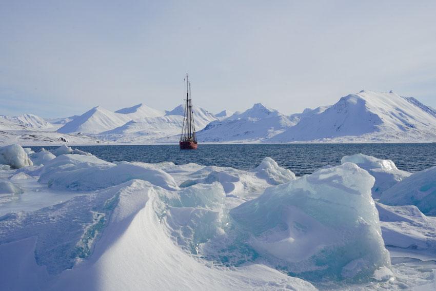 Skitouren Spitzbergen vom Schiff_ Nooderlicht