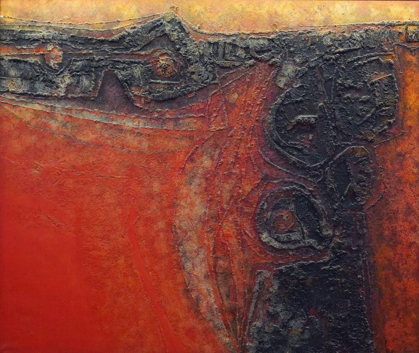 Tao 1969. Gemälde von César Manrique in der Empfangshalle