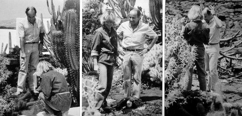 Almut Rother und César Manrique sprechen über Kakteen, ein Thema, das beide fasziniert. Im Sommer 1981 anlässlich eines Besuches bei Manrique