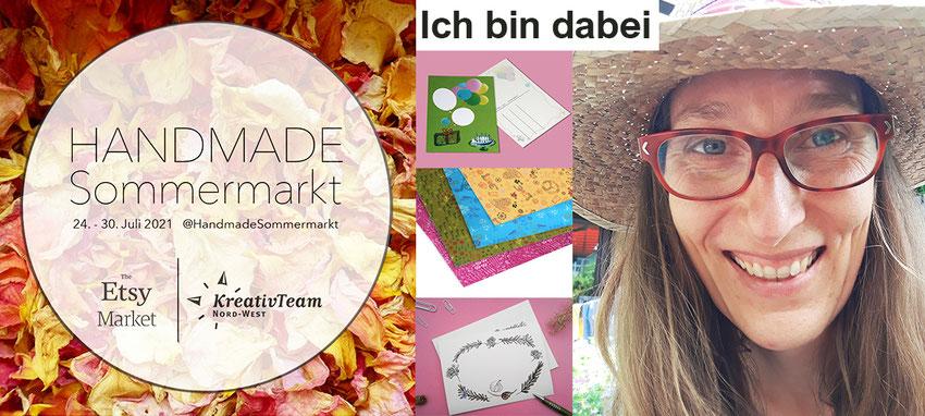 Handmade Sommermarkt, Kathrins Papier ist dabei