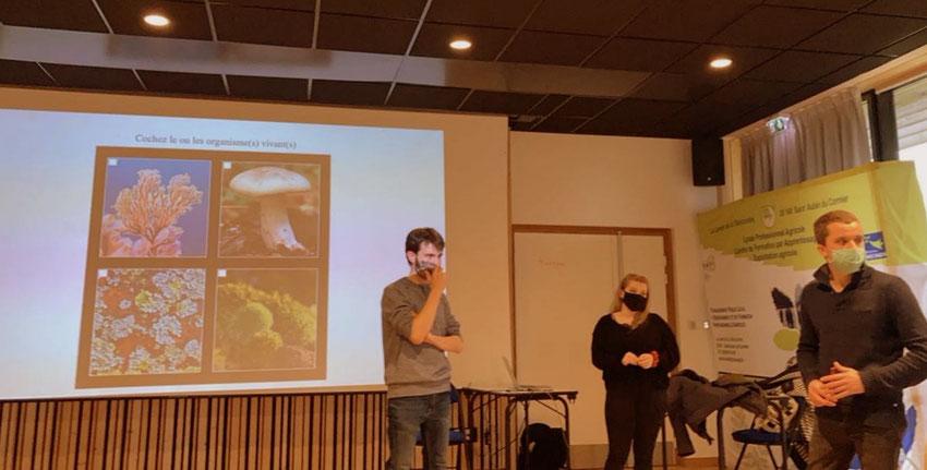 """L'équipe du PIC """"enquête sociologique sur la nature : Joseph Villiermet, Manon Paviot et Ronan Héry"""