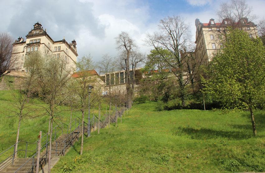 """Pirna, à 15 Km de Dresde, où se situe l'antenne locale du """"SRFD"""" de Saxe, sur les hauteurs de l'Elbe !"""