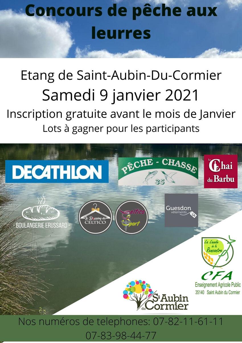 Affiche invitant à participer au concours de pêche initialement prévu