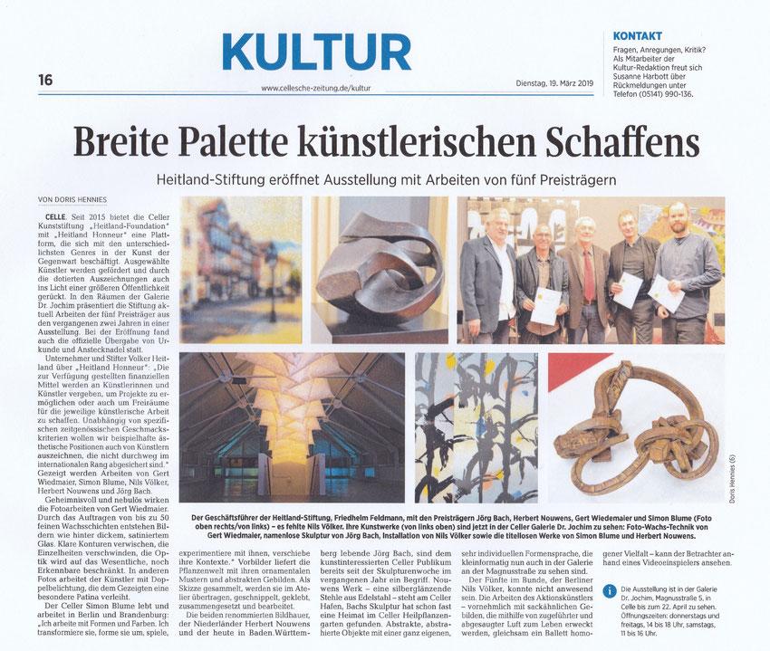 Cellesche Zeitung 19. März 2019