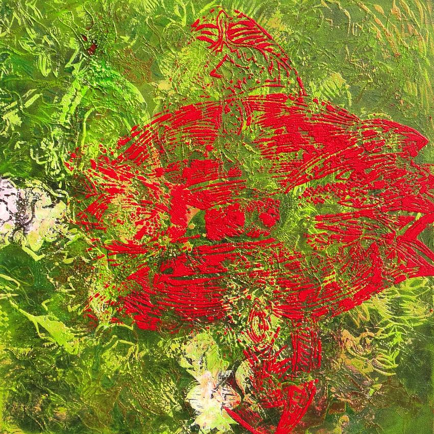 """""""Flash"""", 2014, Öl auf Leinwand, 60x60 cm, Privatbesitz (Remscheid)"""