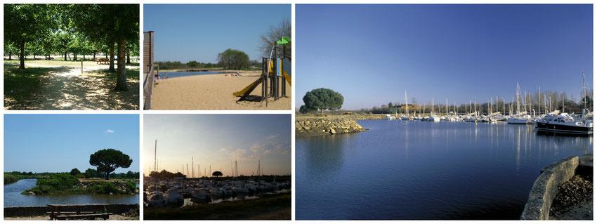 Le Teich - Bassin d'Arcachon - Port de plaisance du Teich - Baignade aménagée - Aire de pique-nique