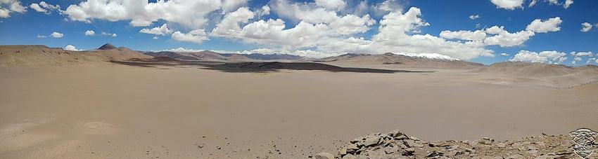 La impresionante vista que nos regala la pared sur del crater.