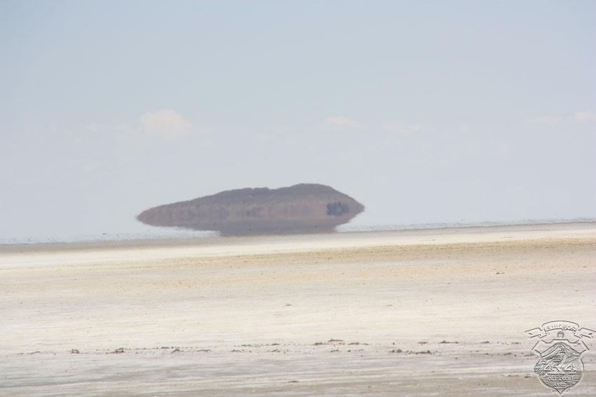 Será la Isla Incahuasi, o se trata de una ilusión óptica?