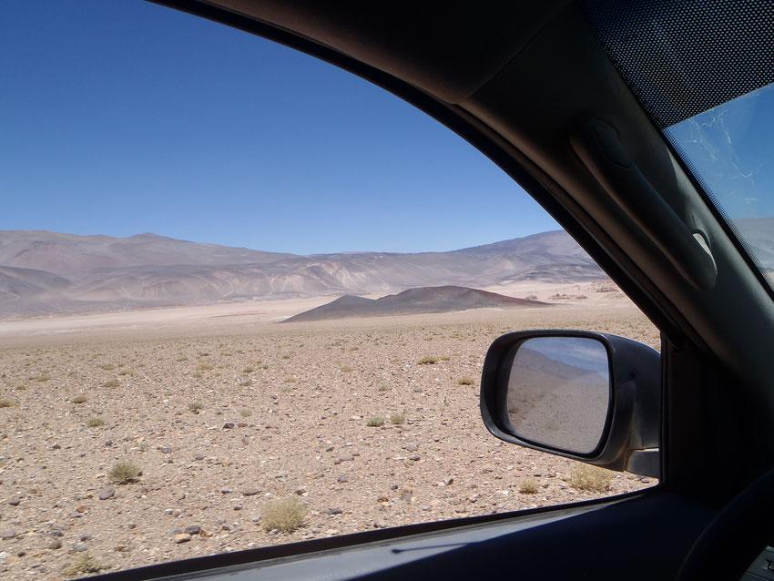 Bajando al sur por el costado del salar de Antofalla, llegamos a la vega Antofalla. Pero esta vez le deberemos la visita pues nos dirigimos directamente para la Vega Los Colorados.