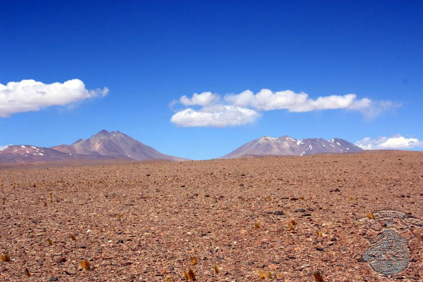 Nos detenemos unos segundos, y con la mirada al oeste, aparecen el Vallecitos y Los Colorados, y el abra que es la salida segura de Pampa de los Bayos