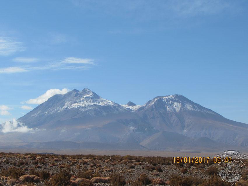 Impresionante el Volcán Lascar.