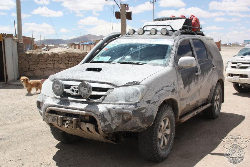 Así llegamos a Uyuni, en busca de un buen lavadero.