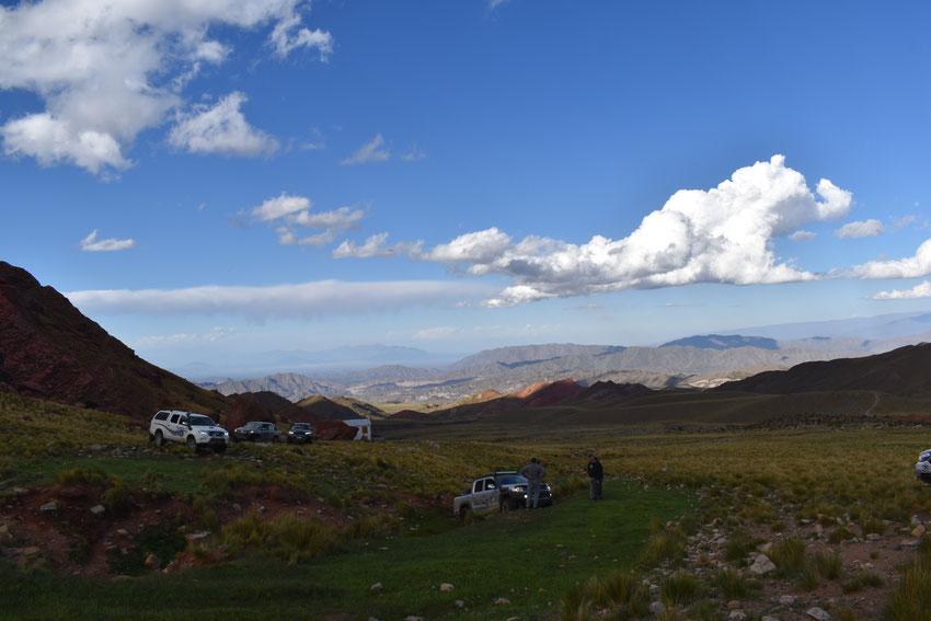 En Tres Piedras, preparando el malacate de Gerardo para sacar la camioneta de Jorge.