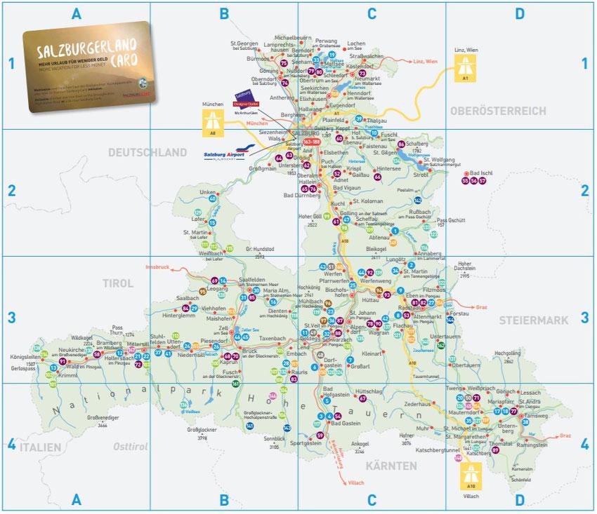 salzburger land karte SALZBURGERLAND CARD   Haus Höllerer   Gemütliche Ferienwohnungen