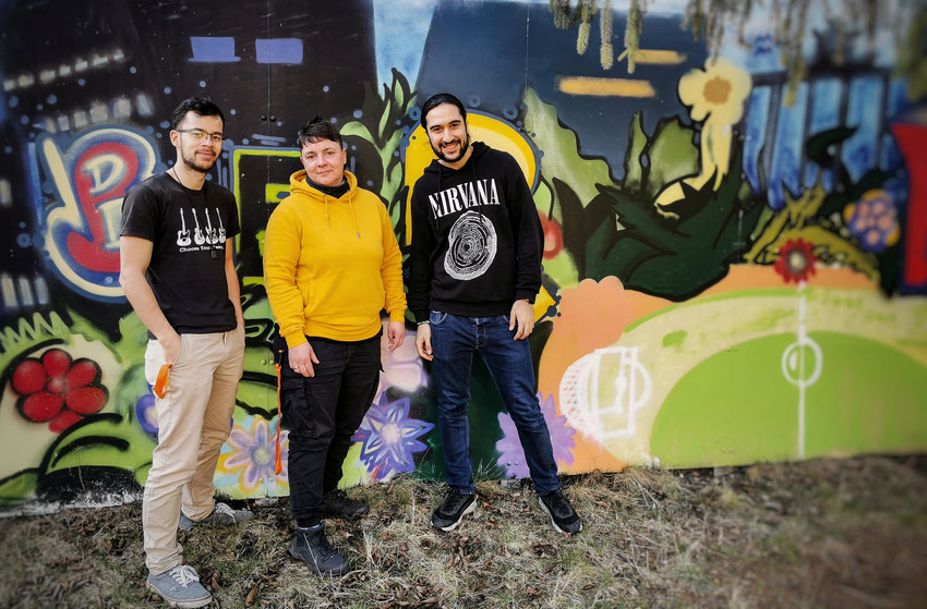 Unser Team: Danny, Antje und Saleh