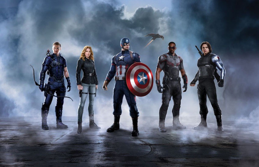 Ant-Man, Hawkeye, Sharon Carter, Captain America, Falcon & der Winter Soldier