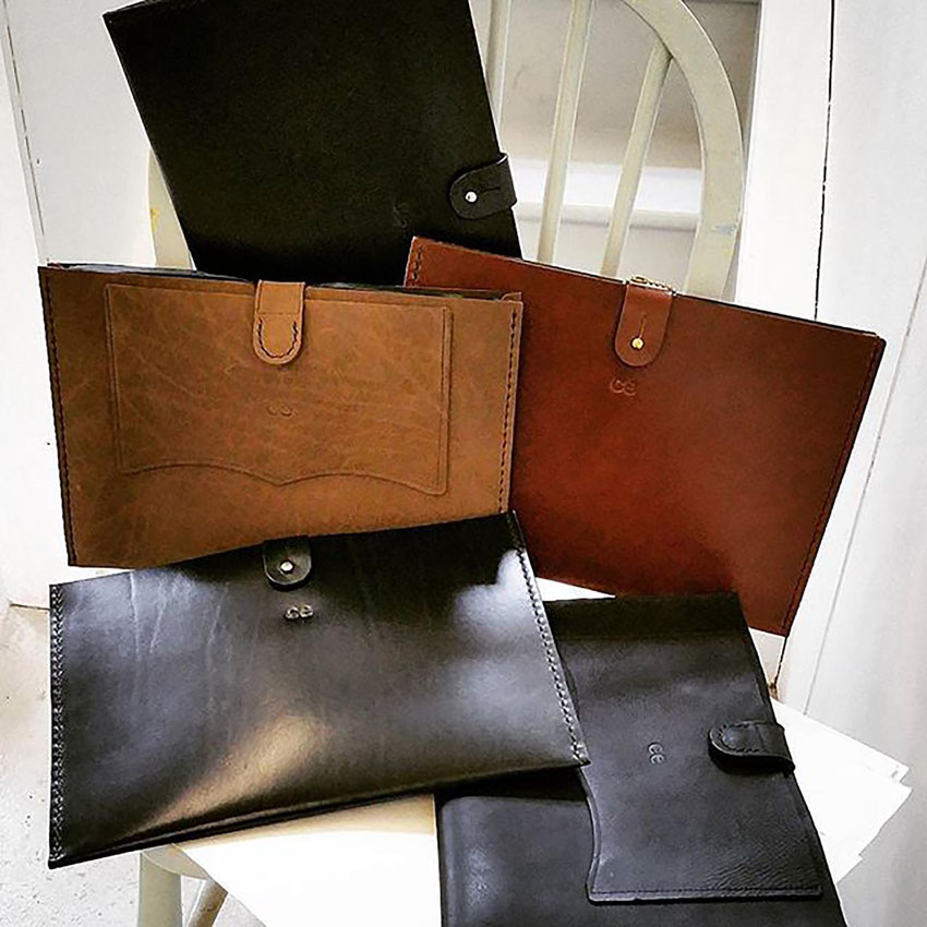 leather document tablet case