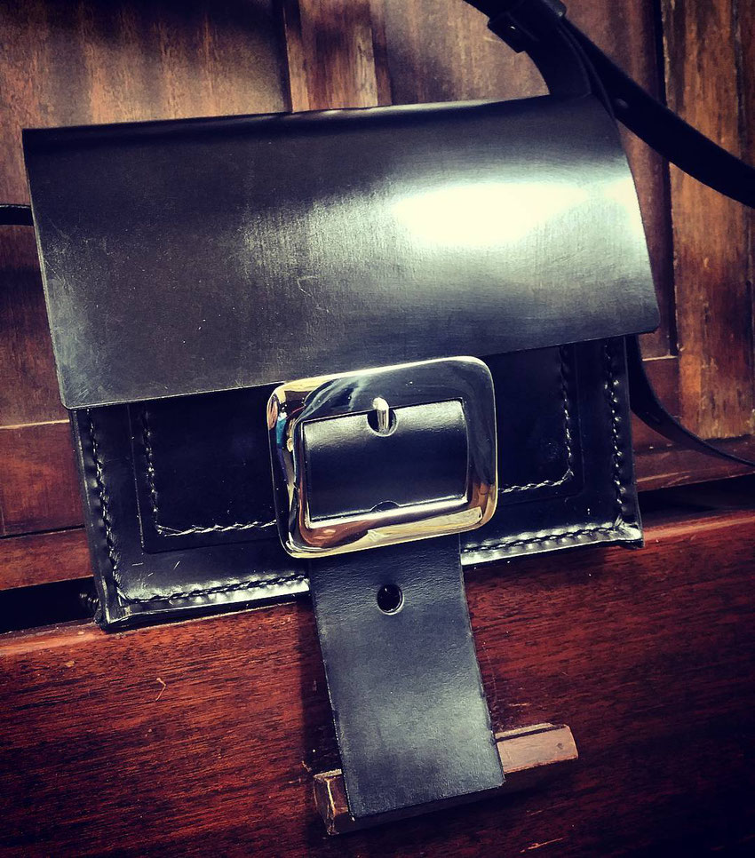 Axel Dolly small compact luxury leather fine quality handmade shoulder crossbody cross body bag