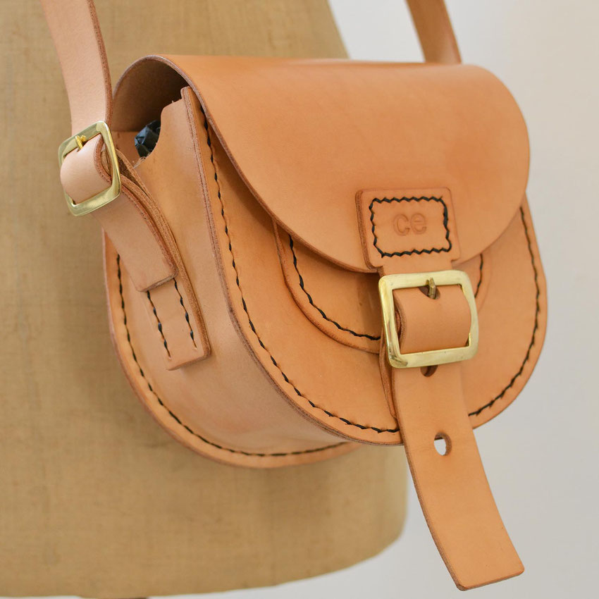 toldbol tiny luxury small leather satchel bag saddle handstitched handmade buckle shoulder purse bag