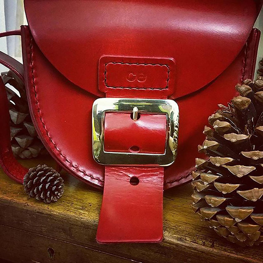 ladies small leather saddlebag